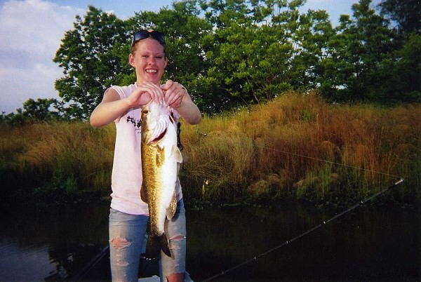 Samantha Marcella with a very big bass