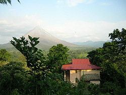 Lost Iguana villa (our home)  with Arenal Volcano
