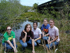 Judson College Botany class at Golden Club Swamp, 2006