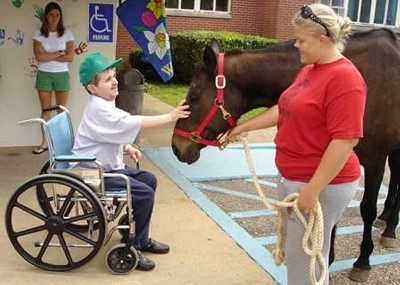 Horse therapy at the Perry County Nursing Home