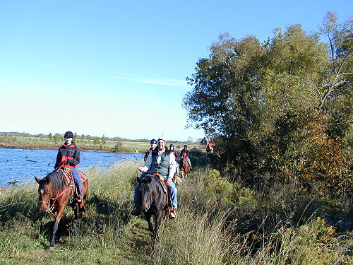 Thomas Wilson on trail ride with Judson team members, 2006